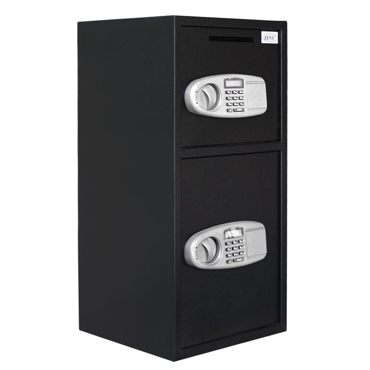 ZENY Large Digital Security Safe Box Double Door Depository for Money Gun Jewelry