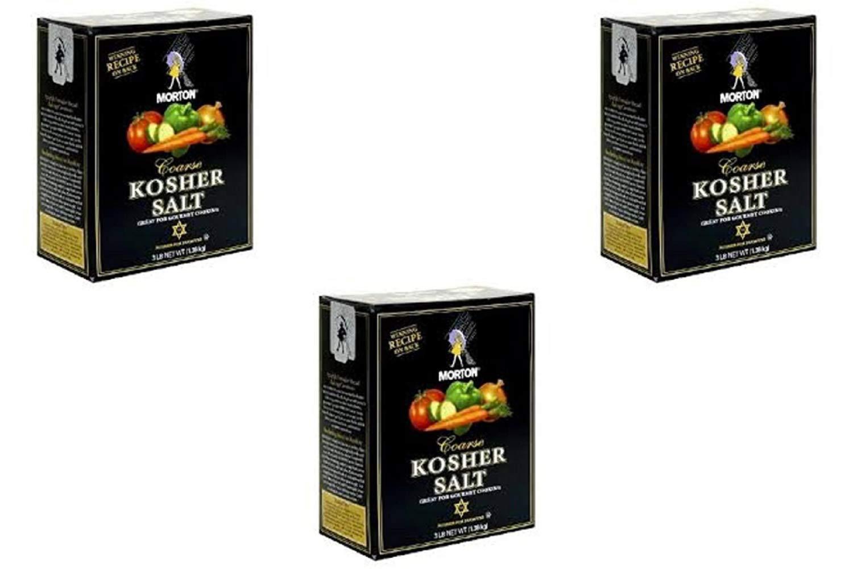 Morton Coarse Kosher Salt - 48 Ounces Box (3 Pack)
