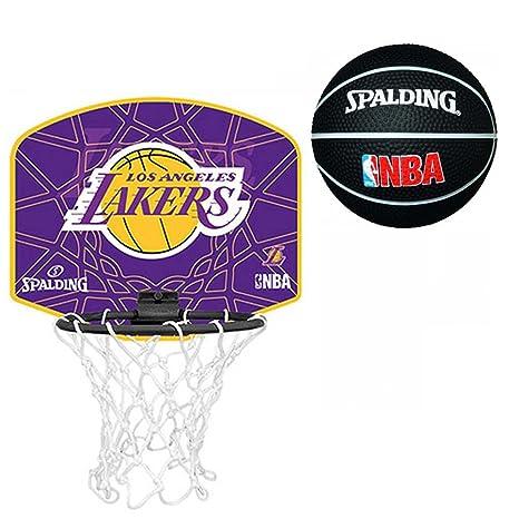 Spalding L.A. Lakers - Juego de mini canasta y balón de baloncesto ...