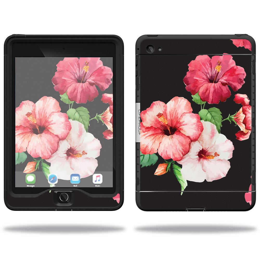 MightySkins Protective Vinyl Skin Decal for Lifeproof Apple iPad Mini 4 Case nuud Case wrap cover sticker skins Hibiscus
