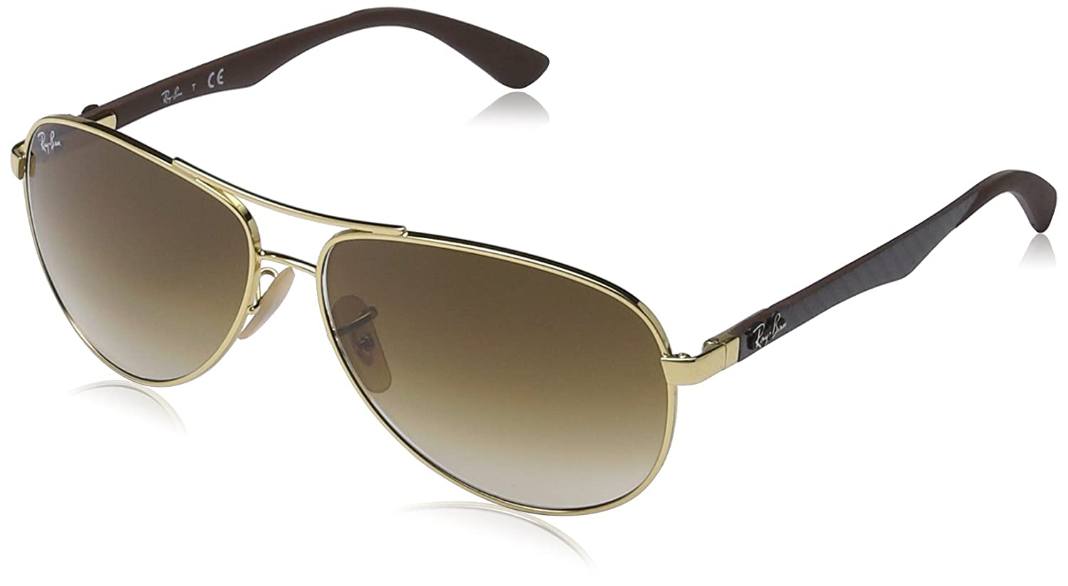 ray ban glasses slipping  amazon: ray ban men's carbon fibre 0rb8313 aviator sunglasses, arista, 58 mm: ray ban: clothing