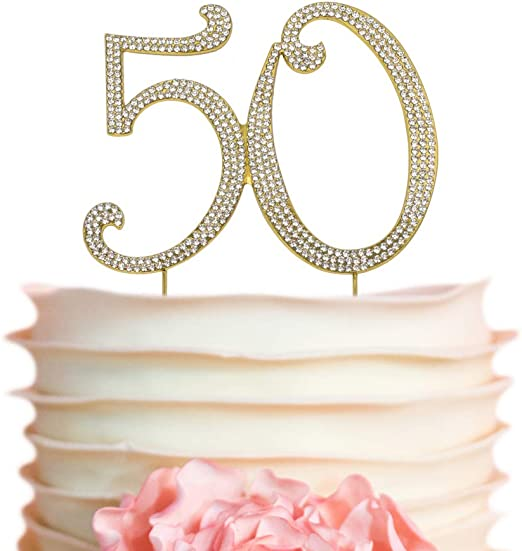 50th Milestone Candles Birthday Silver Glitter Sparkling Party Decorations 50 yr