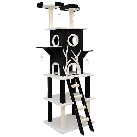 4 opinioni per eyepower Tiragraffi ad albero per gatti Linus Nero alto ca. 2,15m per