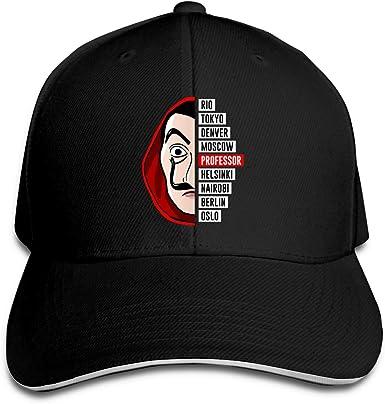 LA CASA DE Papel Money Heist Netflix Flat Bill Hat for Men and Women