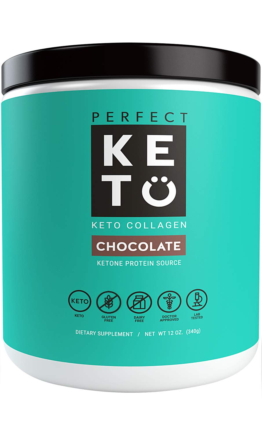 Perfect Keto Chocolate Protein Powder: Collagen Peptides Grassfed Low Carb Keto Drink Supplement with MCT Oil Powder. Best as Keto Drink Creamer or Added to Ketogenic Diet Snacks. Paleo & Gluten Free by Perfect Keto