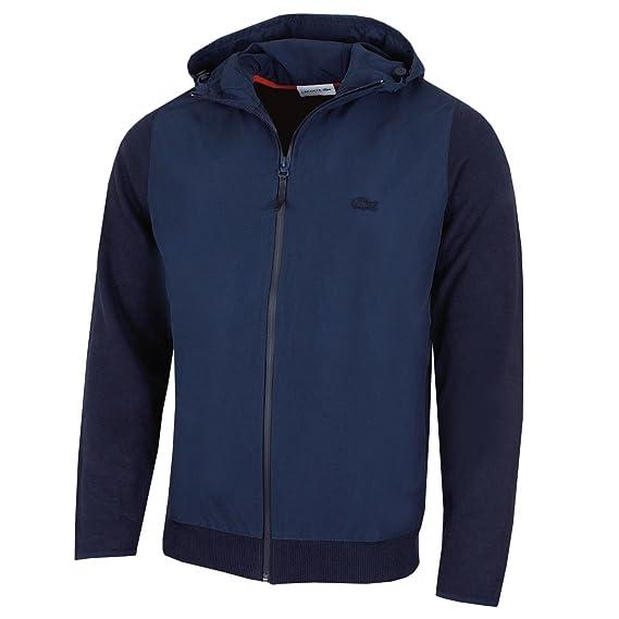 300eb9cac Lacoste Mens 2018 AH9197 Bi-Face Jersey FZ Jacket  Amazon.co.uk  Clothing