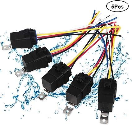 10P 40//30 AMP Automotive Waterproof Relay Switch Set 12V Car SPDT Harness Socket