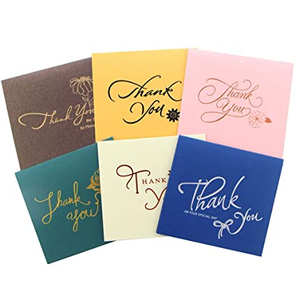 Amazoncom Thank You Cards With Envelopes Gift Cards With