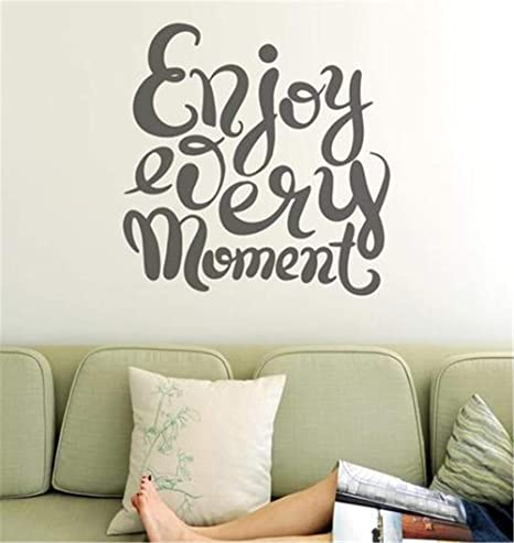 Kenden Vinyl Wall Art Inspirational Quotes And Saying Home Decor Decal Sticker Enjoy Every Moment Home Kitchen