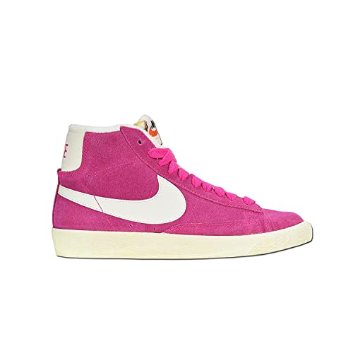Nike Hi Top Trainers Shoes Womens Blazer Mid Suede Vintage Fuchsia Rave Pink Natural  ( 5902c698e