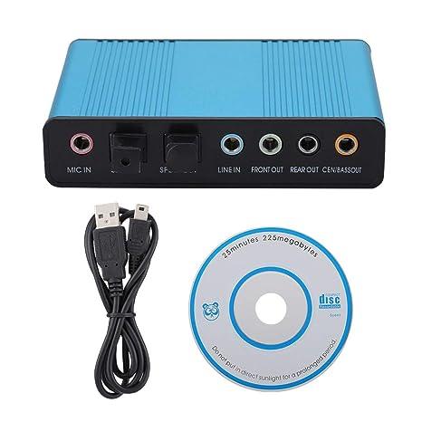 Amazon.com: 6 Channels 5.1 USB External S/PDIF Optical ...