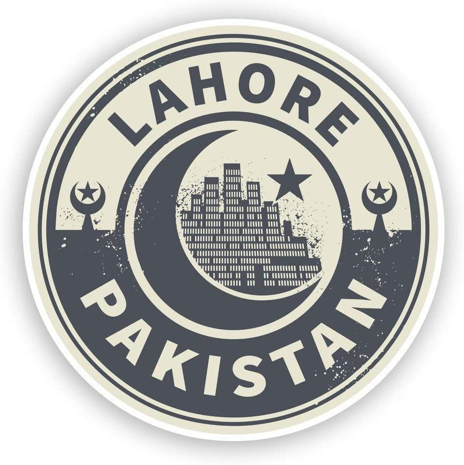 Pakistan Lahore Vinyl Sticker Decal Laptop Car Bumper Sticker Travel Luggage Car iPad Sign Fun 5""