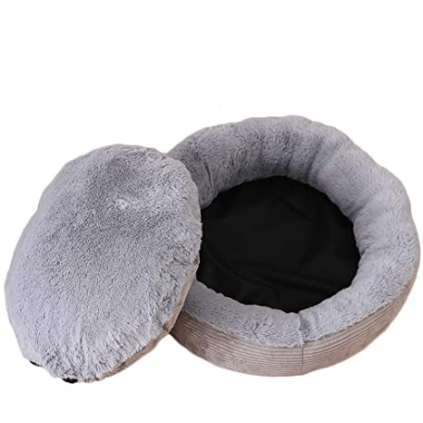 Cupcinu Nido de Mascota Redondo Cama para Perros Desmontable Nido para Gatos Gruesa y cálida para