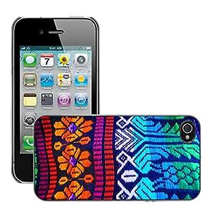 Print Motif Coque de protection Case Cover // M00157075 Art Crafts patrón tradicional // Apple iPhone 4 4S 4G