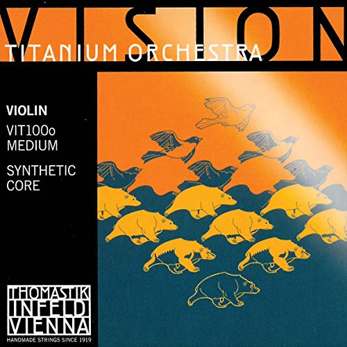 Thomastik Vision Titanium Orchestra 4/4 Violin String Set - Medium Gauge by Thomastik