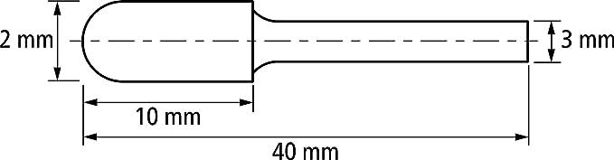 Walzenrundform WRC 21205187 Fr/ässtift-/ø 3mm PFERD HM-Fr/ässtift mit Langschaft L/änge 75mm Schaft-/ø 3mm Zahnung 3 PLUS f/ür universelle Anwendungen auf den wichtigsten Werkstoffen
