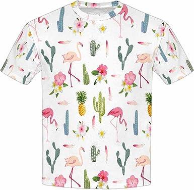 XS-XL INTERESTPRINT Pink Flamingos Exotic Birds Childs T-Shirt