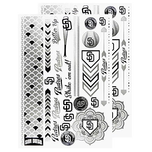 - MLB San Diego Padres Metallic Body Jewelry Stickers