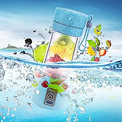 380ml USB Electric Fruit Juicer Handheld Smoothie Maker Blender Bottle Juice Cup,Bule