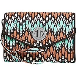 Vera Bradley Women\'s Your Turn Smartphone Wristlet Rosewood Clutch
