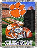 NCAA Clemson Tigers 48-Inch-by-60-Inch Acrylic Tapestry Throw