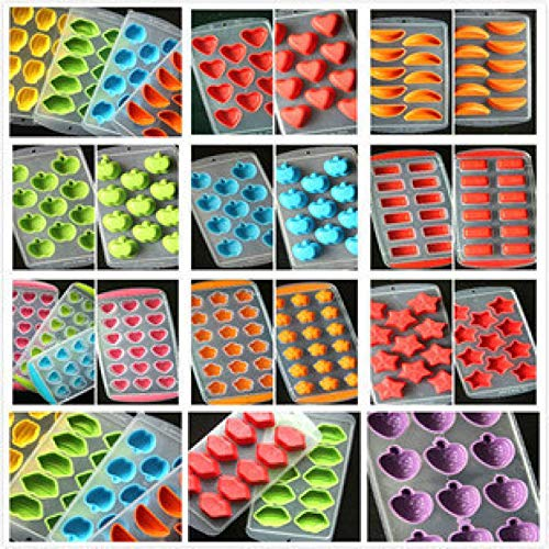 New Silicone Ice Cube Jelly Chocolate Fruit Cake Diy Mould 3D Mold Molds Tray Pudding