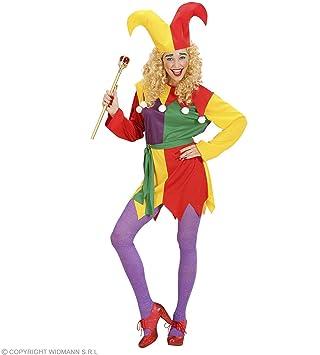 Ladies - Disfraz de bufón para mujer, talla UK 10-12 (W0271-M ...
