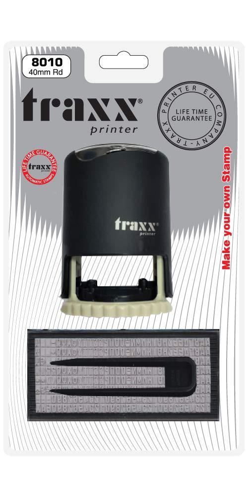 TRAXX 8010 DIY Selbstfärbender Stempel rund 40 mm, max. 1 Zeile B07HP171TX       Zürich Online Shop