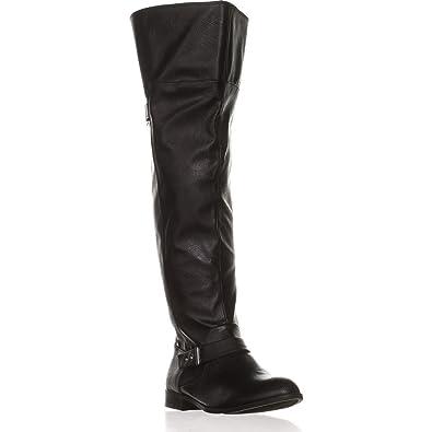 17f975fb9 Amazon.com | Bar Iii Womens Daphne Wide Calf Almond Toe Over Knee Fashion  Boots | Over-the-Knee