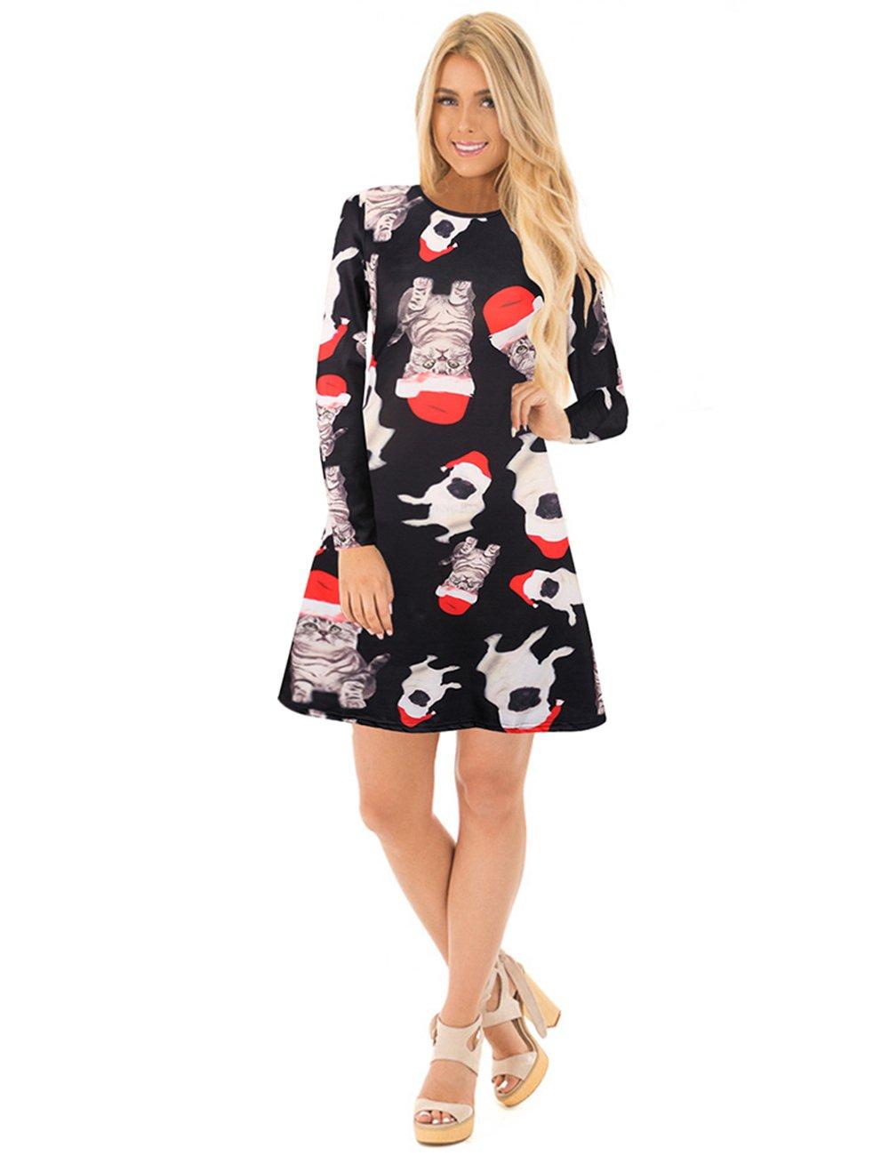 Frauen hässlich Weihnachten Kleid - niedliche Katzen und Hunde ...