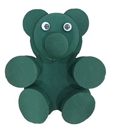 f06d6d869431c Oasis Designer Teddy Bear Shapes  3D Foam With Stand (Pack of 1 ...