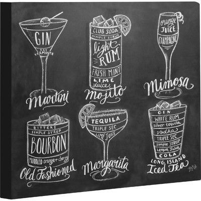 One Bella Casa Cocktails by Lily & Val Painting Print on Wrapped Canvas & Reviews | Wayfair