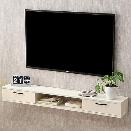 Estante Soporte de TV flotante Pared Consola de medios Soporte de gabinete para TV Reproductor de
