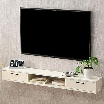 Etagere En Bois Flottant Meuble Television Mur Meuble Tv Etagere De