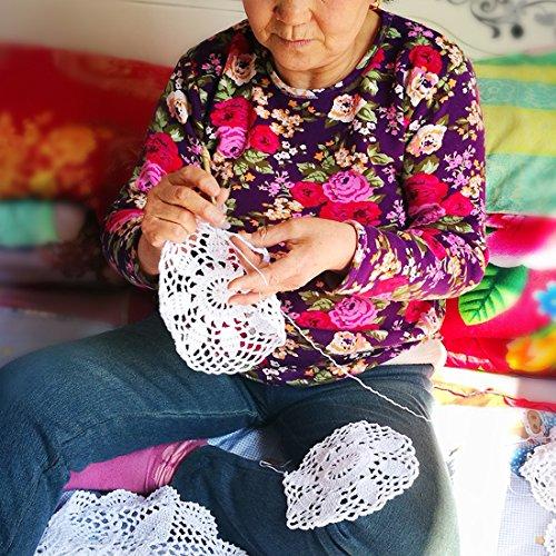 kilofly Handmade Crochet Lace Rectangular Table Runner 15 x 36 Inch, Beige by kilofly (Image #7)