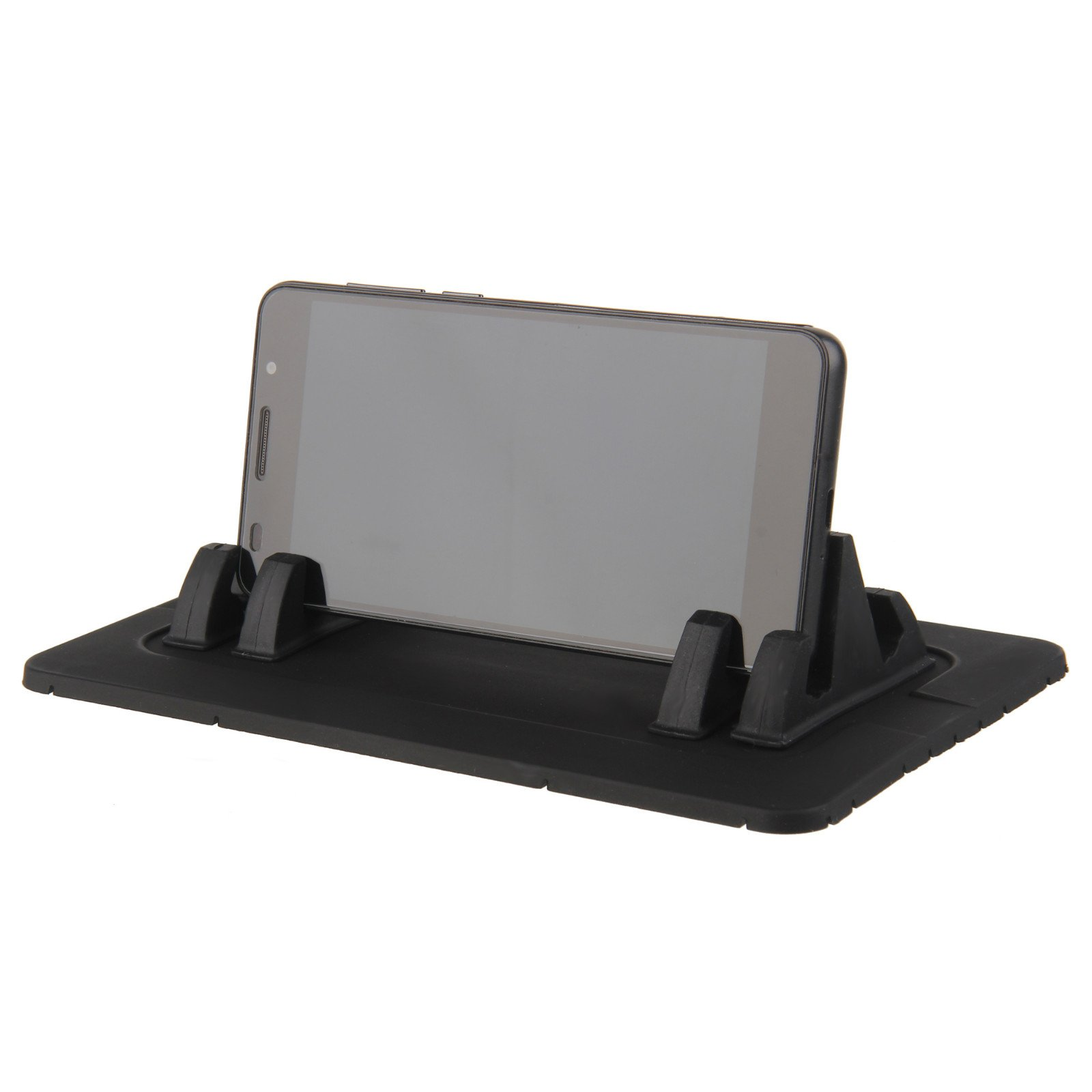 Beauty7 Universal Silicone Car Dashboard Mat Pad Adjustable Holder Mount Anti Slip Stand with 2 Pairs Phone Holder for Cellphone Mini Tablets GPS iPhone Samsung Galaxy and More