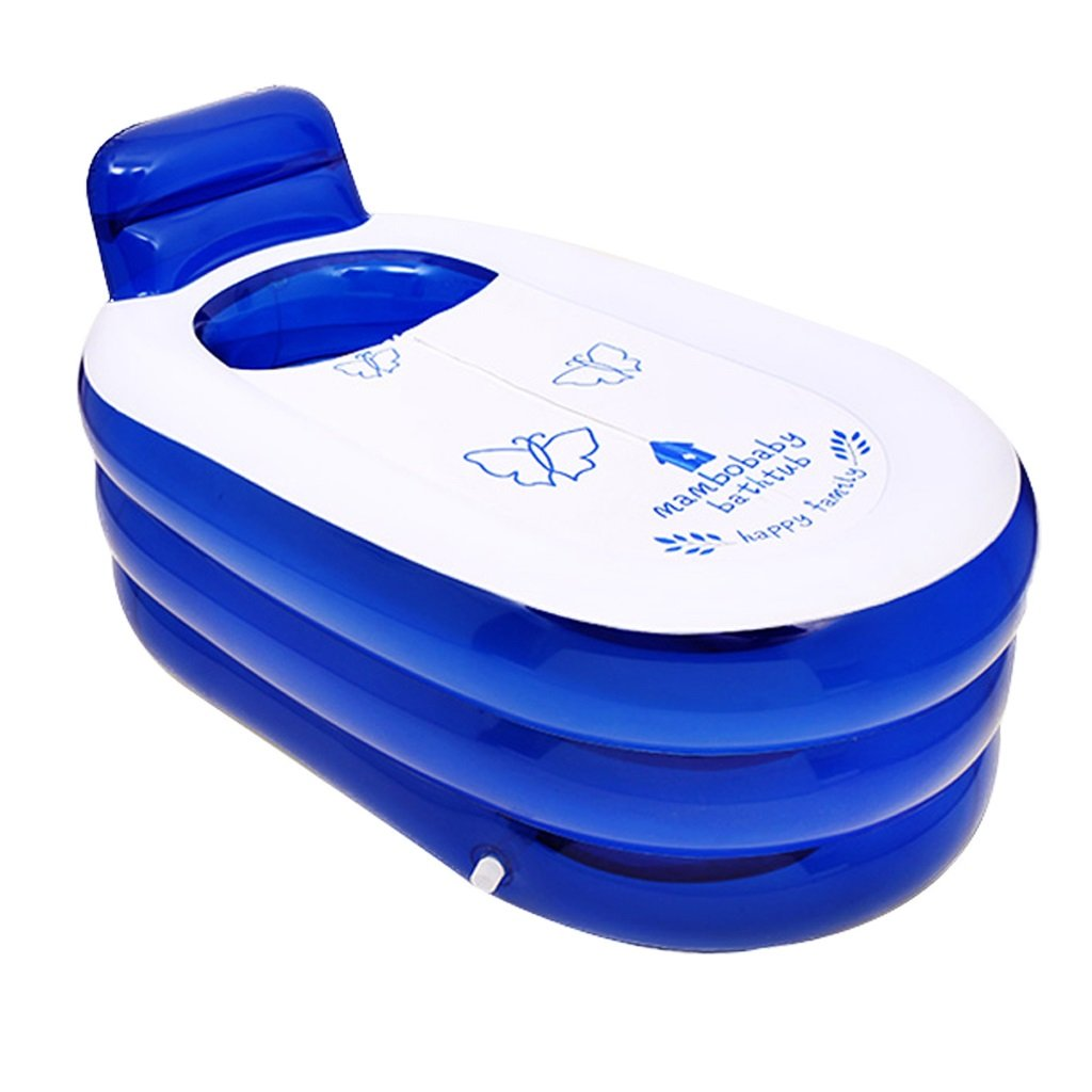 WYP Inflatable Bathtub Adult Portable Home Spa, Comfortable Bathtub/Quality Bathtub (Color : Blue)