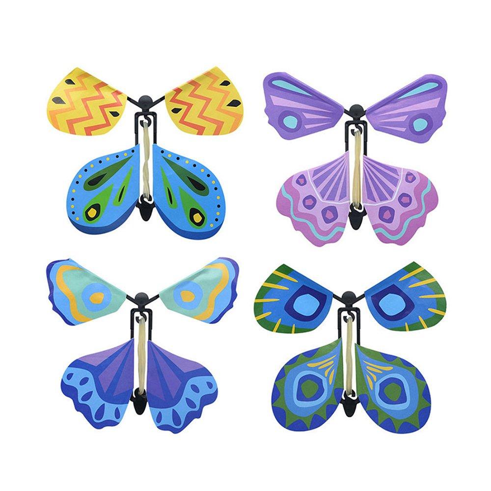 hou zhi liang Aufzieh-Spielzeug Oster-Spielzeug zum Aufziehen Fliegender Schmetterling Spielzeug für Partys Gastgeschenke zufällige Farbe 1 Stück (13 x 16 cm)