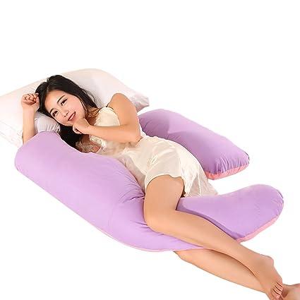 Ovonni -- Almohada Para Las Mujeres Embarazadas, Forma de Luna, Protectora para la
