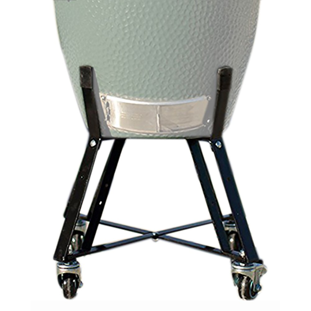 Rolling Cart Nest With Heavy Duty Locking Caster Wheels Powder Coated Steel Rolling Outdoor Cart For Large Big Green Egg Kamado Classic Joe Grill Stand Cooking Accessories Raise Egg Round Pit by kamado factory