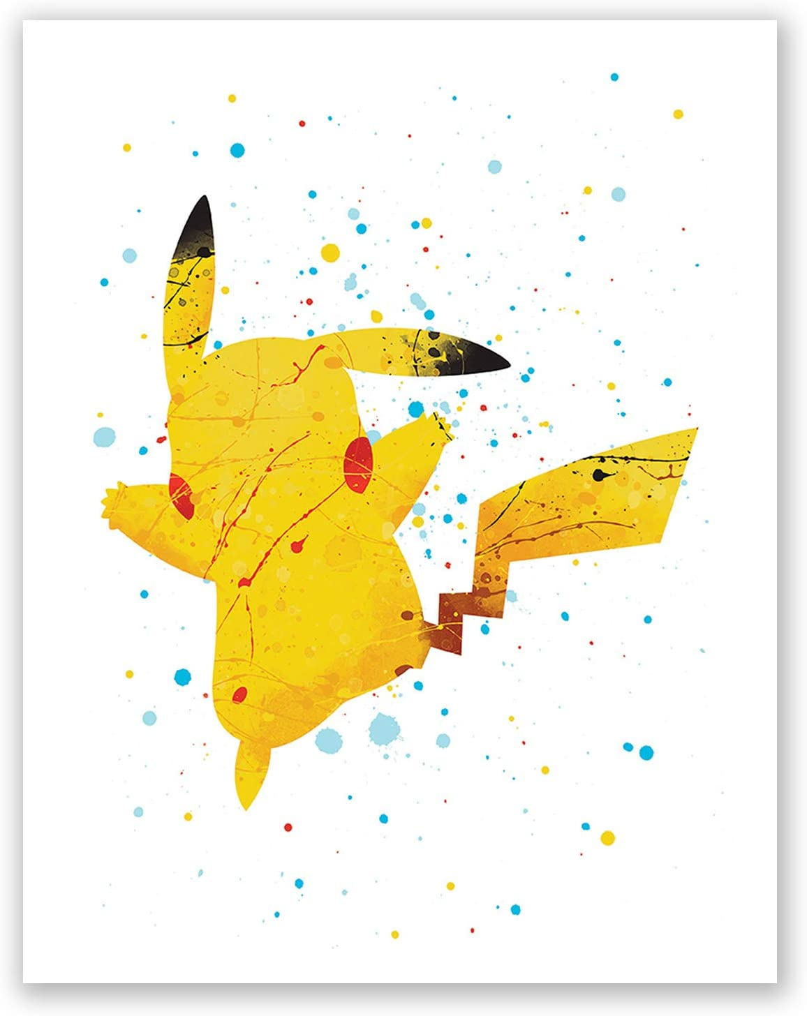 - Amazon.com: Pikachu Art Poster – Pokemon Wall Art Print – Home Decor –  Movie Picture – Baby Room Art – Party Decoration (8x10): Posters & Prints