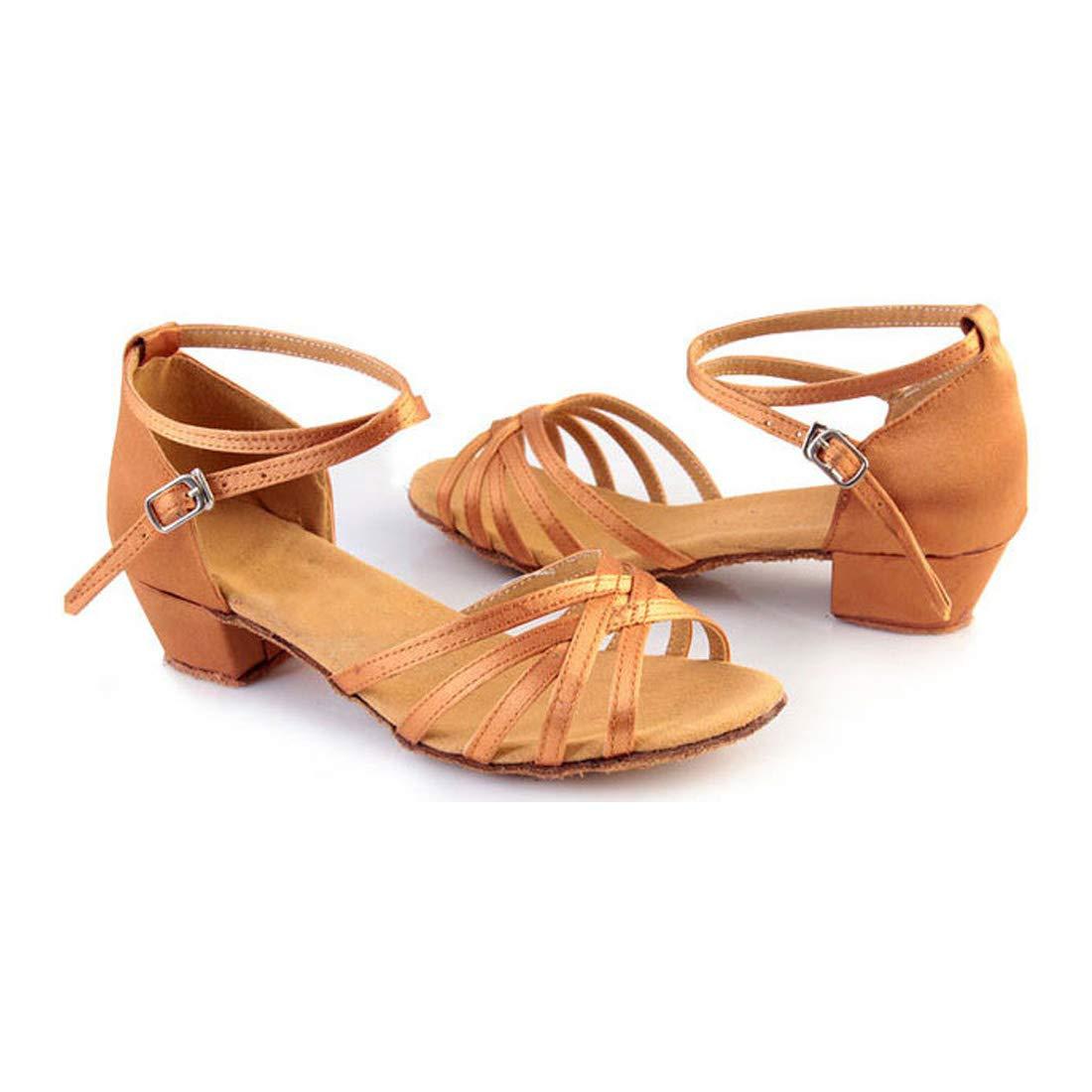 Aiweijia Girls Ballroom Dance Latin Salsa Performance Dancing Shoes Sandals