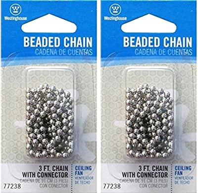 3-Feet Beaded Chain, Nickel