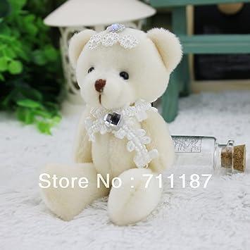 Amazon.com: Al por mayor lindo llavero oso de peluche oso de ...