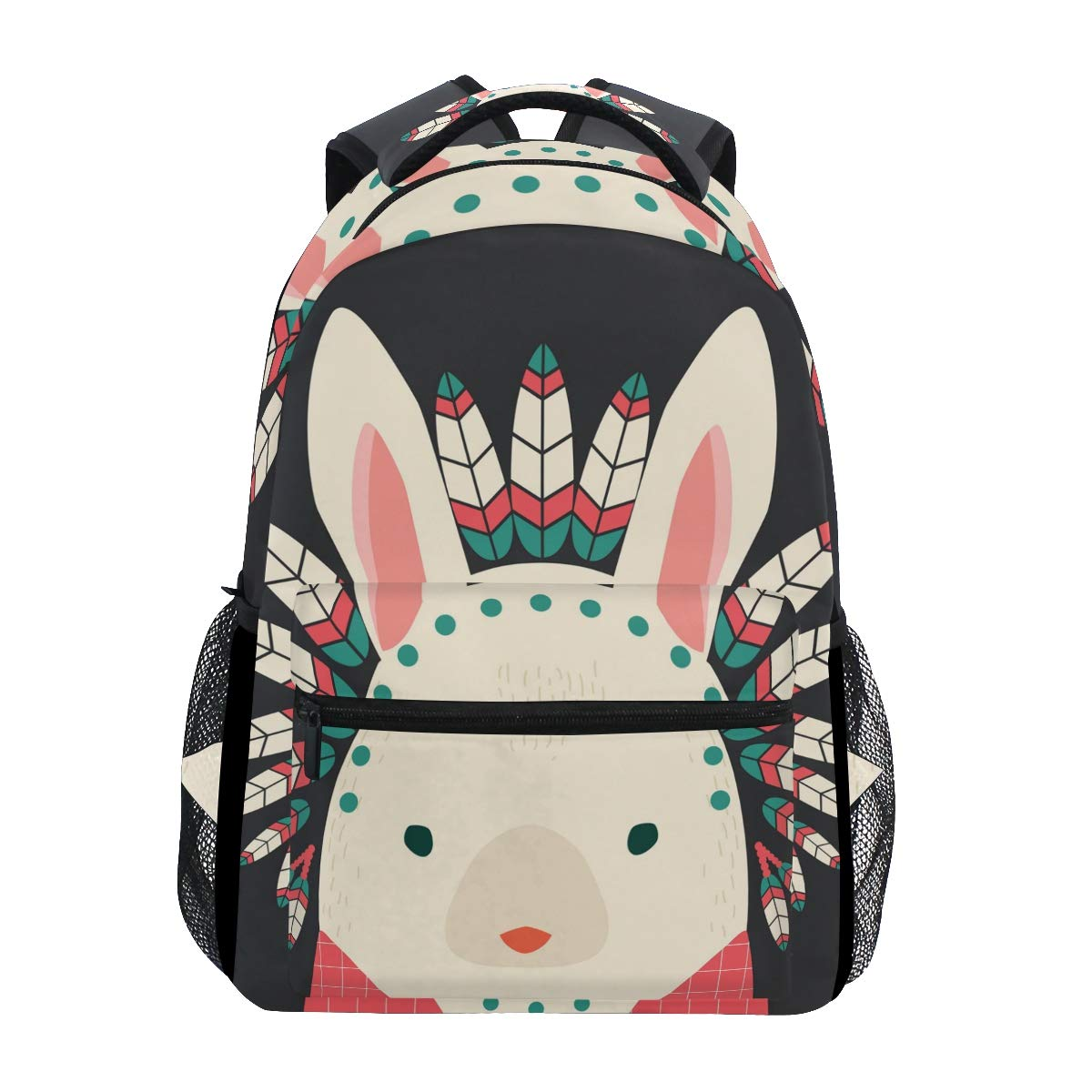 Sacs à Dos Backpacks Indian Hare with Feathers Bookbags Bag for Girls Kids Elementary
