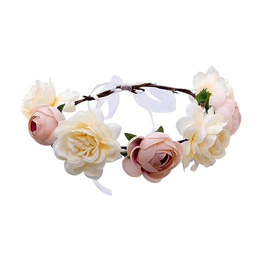 Qhome Rose Flower Crown Garland Women Wedding Hair Accessories Bridal  Flower Headband Girls Floral Wreath Head Tiara at Amazon Women s Clothing  store  877954229672