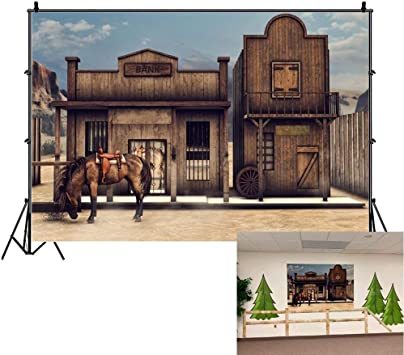 Western 10x15 FT Photo Backdrops,American Legend Cowgirl Leather Boots Rustic Wild West Theme Cultural Print Background for Baby Shower Bridal Wedding Studio Photography Pictures Beige Red Black