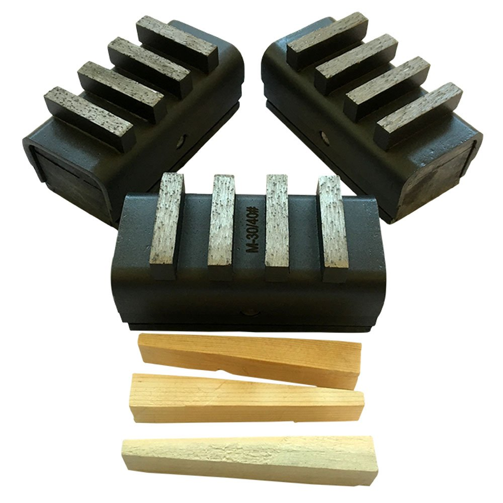 Concrete Grinding Blocks for Edco and Husqvarna Floor Grinders #40/50 Grit EDiamondTools