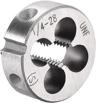 """1//4-28 *Left Hand* Round High Speed Steel Die 1/"""" Outside Diameter"""