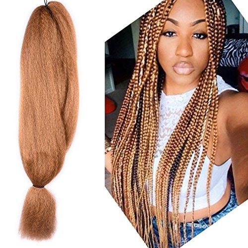 48 inch Braiding Hair kanekalon Crochet Braids Synthetic Hair Extensions x-pression Jumbo Braid Hair 57G (48 inch, #27)
